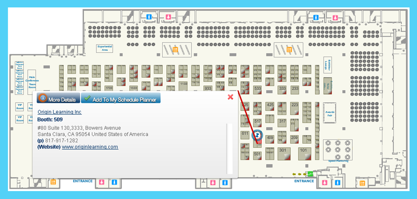 Origin Learning Booth Map ASTD Conference 2014