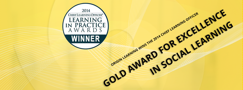 2014 CLO Gold award for Origin learning in Social learning category